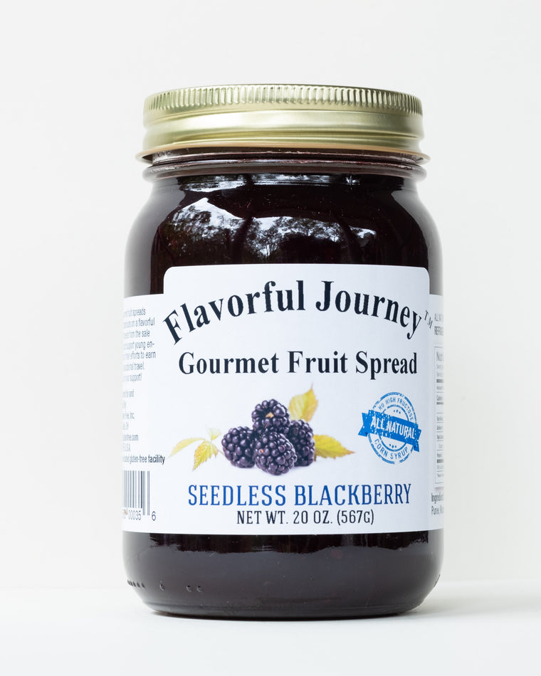 Flavorful Journey Seedless Blackberry Gourmet Fruit Spread