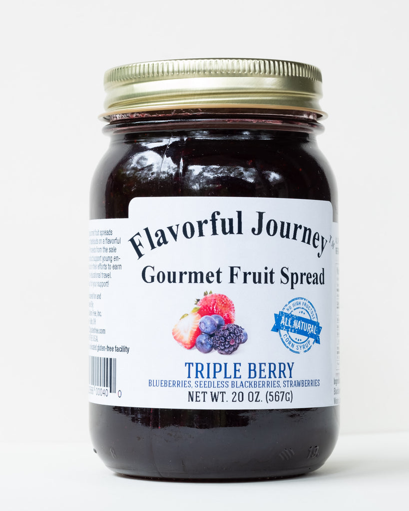 Flavorful Journey Triple Berry Gourmet Fruit Spread