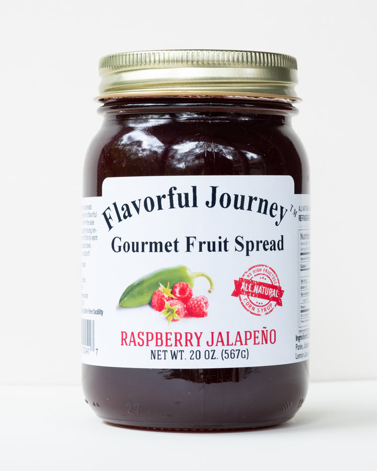 Flavorful Journey Raspberry Jalapeno Gourmet Fruit Spread