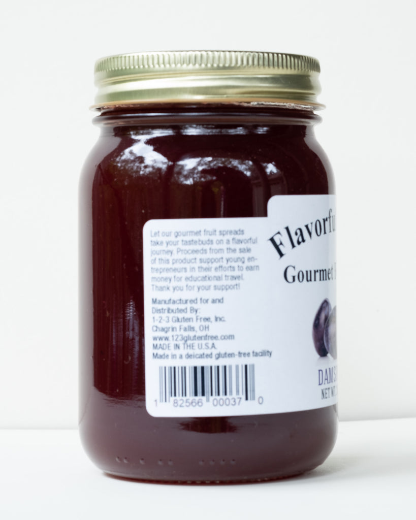 Flavorful Journey Damson Plum Gourmet Fruit Spread