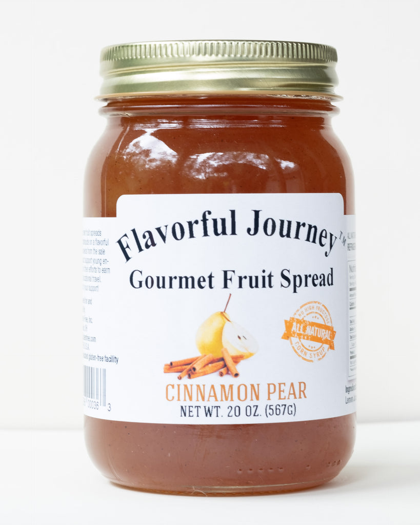Flavorful Journey Cinnamon Pear Gourmet Fruit Spread