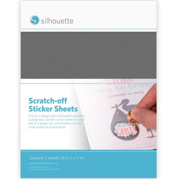 Scratch-off Sticker - Silver - Silhouette Canada