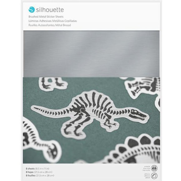Sticker Sheets - Brushed Metallic Silver - Silhouette Canada