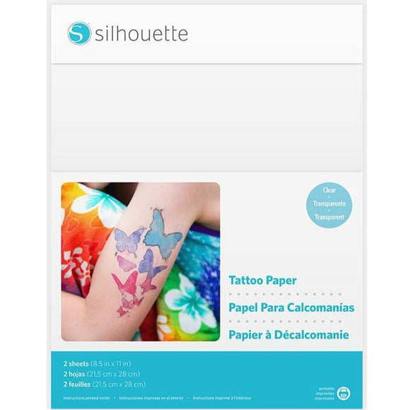 Temporary Tattoo Paper - Clear - Silhouette Canada