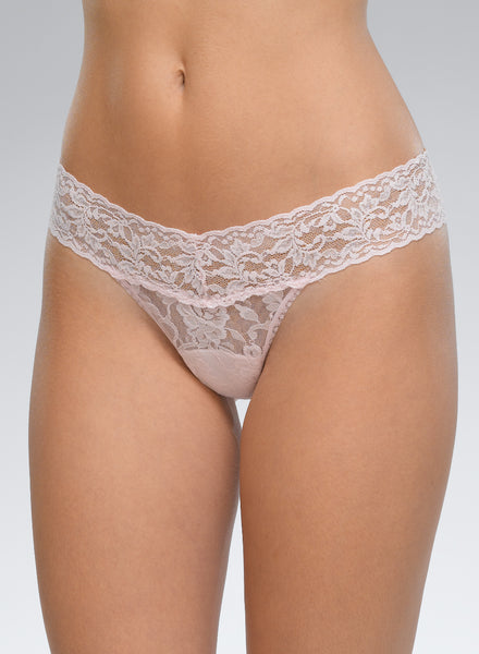 Signature Lace Low Rise Thong (COLORS)
