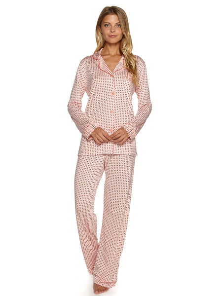 Bella Printed Long Sleeve Top & Pant Pajama Set
