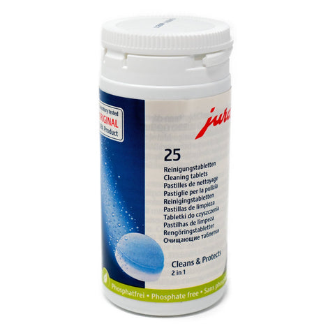 Jura 25 Cleaning Tablets 2 in 1 Phase 62535 - Thefridgefiltershop