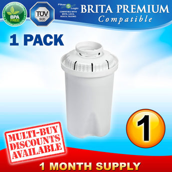 Brita Classic Premium Compatible Water Filter Replacement Refill Cartridge - Thefridgefiltershop