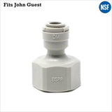 "3/8"" BSP FI 1/4"" 1/4 inch Female Adaptor Fridge Water Filter Tube Connector John Guest Fit - Thefridgefiltershop"