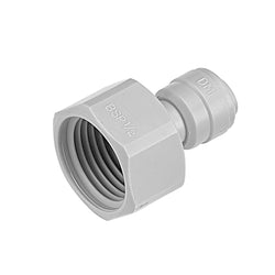"1/2"" BSP FI 1/4"" Female Adaptor Fridge Water Filter Tube Connector John Guest Fit Half Quarter Inch"