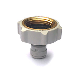 "Premium Brass Thread 3/4"" BSP FI 1/4"" Female Adaptor Fridge Water Filter Tube Connector John Guest Fit Three Quarter Inch"