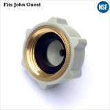 "Premium Brass Thread 3/4"" BSP FI 1/4"" Female Adaptor Fridge Water Filter Tube Connector John Guest Fit Three Quarter Inch - Thefridgefiltershop"