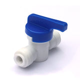 "Water Filter Tube Pipe 1/4"" 6mm to 1/4"" Shut Off Valve In-Line Tap John Guest Fit"