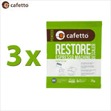 Cafetto Restore Descaler Descaling Powder OMRI Listed for Organic Use - 25g Sachet - Thefridgefiltershop