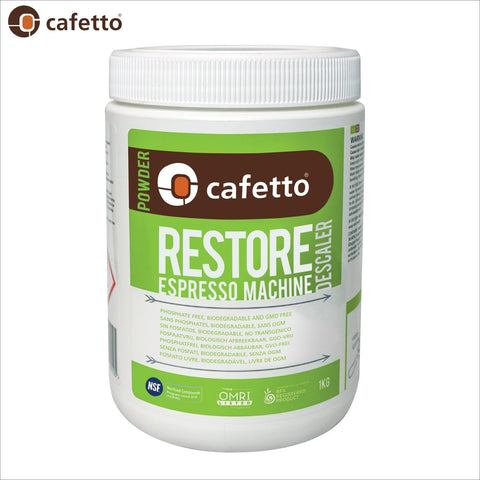 Cafetto Restore Descaler Descaling Powder OMRI Listed for Organic Use - 1KG - Thefridgefiltershop