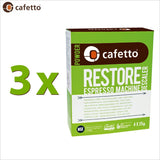 Cafetto Restore Descaler Descaling Powder OMRI Listed for Organic Use - 4 x 25g Sachet - Thefridgefiltershop