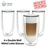 Caffe Latte Double Wall Dual Thermo Shield Insulated Glasses - Thefridgefiltershop