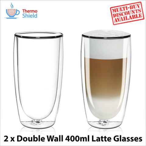 Caffe Latte Double Wall Dual Thermo Shield Insulated Glasses for Delonghi - Thefridgefiltershop