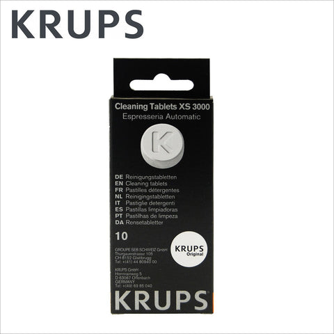 Genuine Krups Coffee Machine Cleaning Tablets XS3000 - 10pcs - Thefridgefiltershop