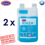 Urnex RINZA® Milk Line Wand Spout Frother Spout Cleaner Coffee Espresso Acid Formulation 1 Litre - Thefridgefiltershop