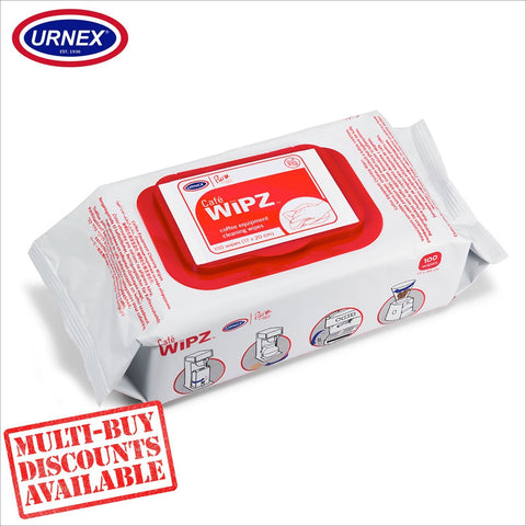 Urnex Café WIPZ ™ Espresso Coffee Machine Cleaning Wipes - Professional Fragrance Free - Thefridgefiltershop