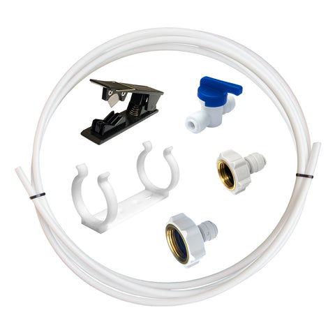 "15m Fridge Freezer Water Filter Pipe Tubing Tube Hose Connection Kit Set 1/4"" - John Guest Fit"