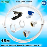 "15m Fridge Freezer Water Filter Pipe Tubing Tube Hose Connection Kit Set 1/4"" - John Guest Fit - Thefridgefiltershop"