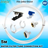 "5m Fridge Freezer Water Filter Pipe Tubing Tube Hose Connection Kit Set 1/4"" - John Guest Fit - Thefridgefiltershop"