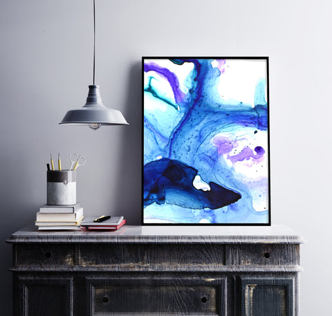Abstract Ocean Life Painting