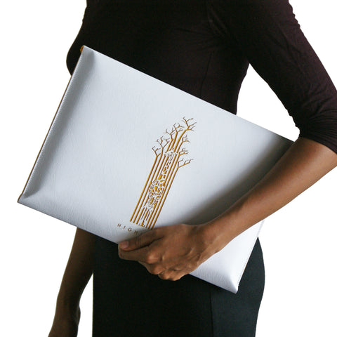 White & Yellow sleeve/slip case for Macbook
