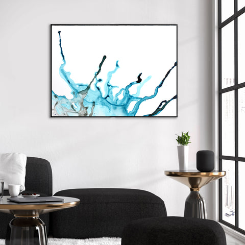 Buy Blue Alcohol Ink Wall Art