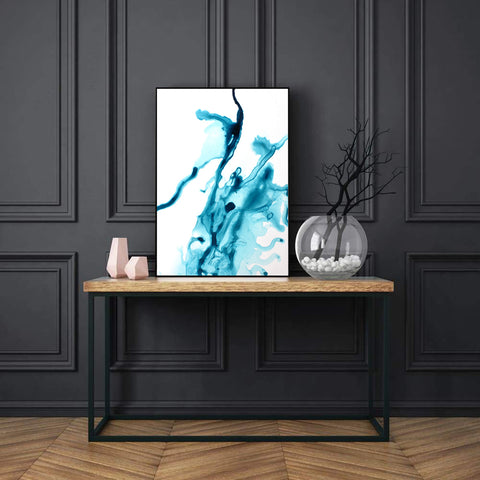 Abstract Blue Splash Painting