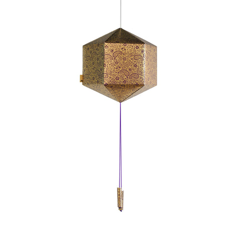 Purple & Gold Paper Lantern