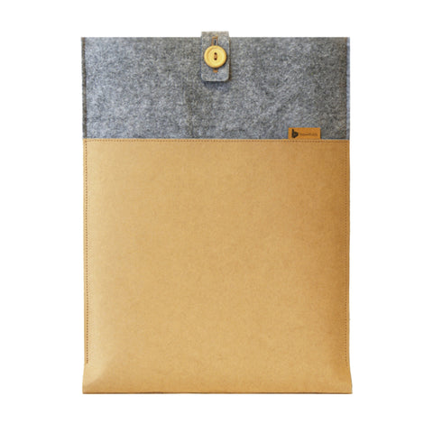 Grey & Brown sleeve/slip case for Macbook