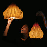 DIY paper origami lamp shade. Hanging pendant lamp buy online