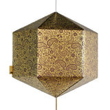 Coffee & Gold Paper Lantern