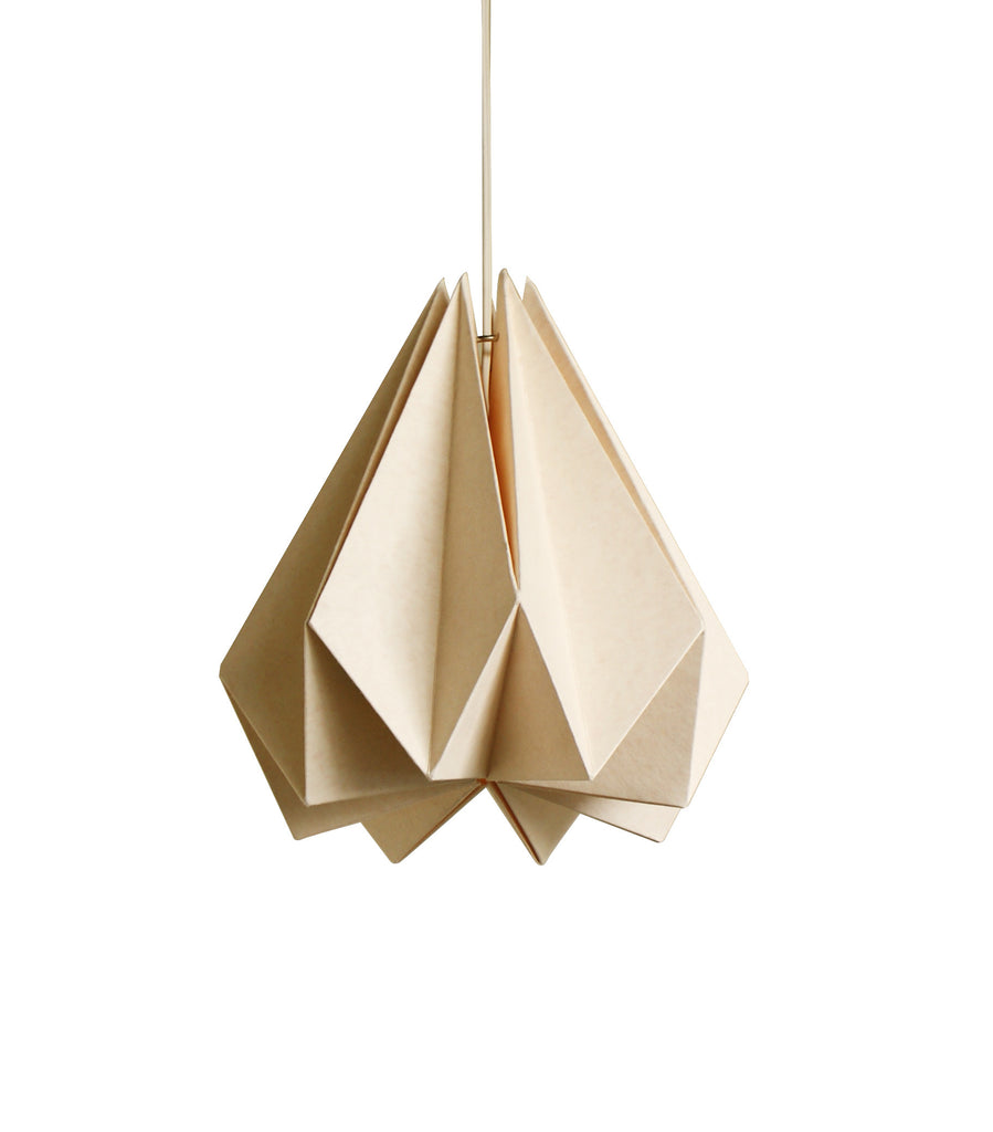 Brownfolds peach paper origami lamp shade vanilla bliss single origami paper lamp shade buy online india aloadofball Images