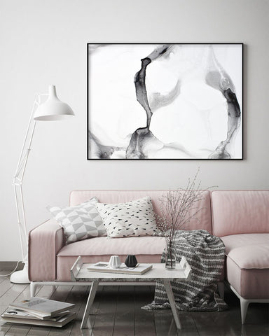Black & White marble wall painting