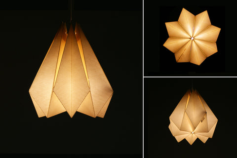 Brownfolds pearl gold paper origami lamp shade vanilla bliss diy paper origami lamp shade buy online aloadofball Images