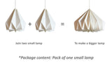 Brownfolds Flat Packed origami lamp shade shop online