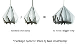 Modular Christmas New year Eco friendly Lamp origami design buy online