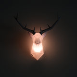 White Paper Wall Decor Art Origami Lamp shade lampshades Modern art decor antelope Deer antlers