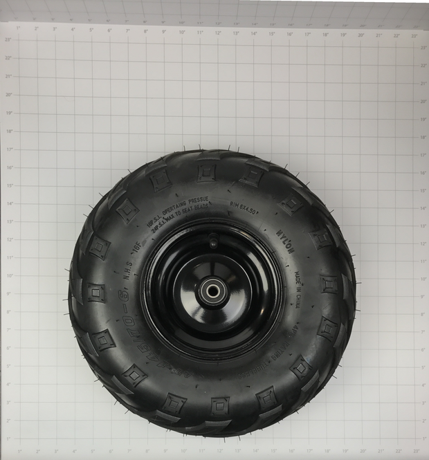 WHEEL/TIRE ASSY. FRONT - (RIM, VALVE, INNER SPACER, 2 BEARINGS, AND MOUNTED TIRE)