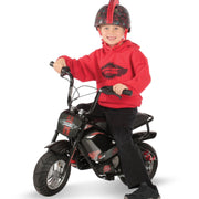 e-mini classic with red decals - boy riding