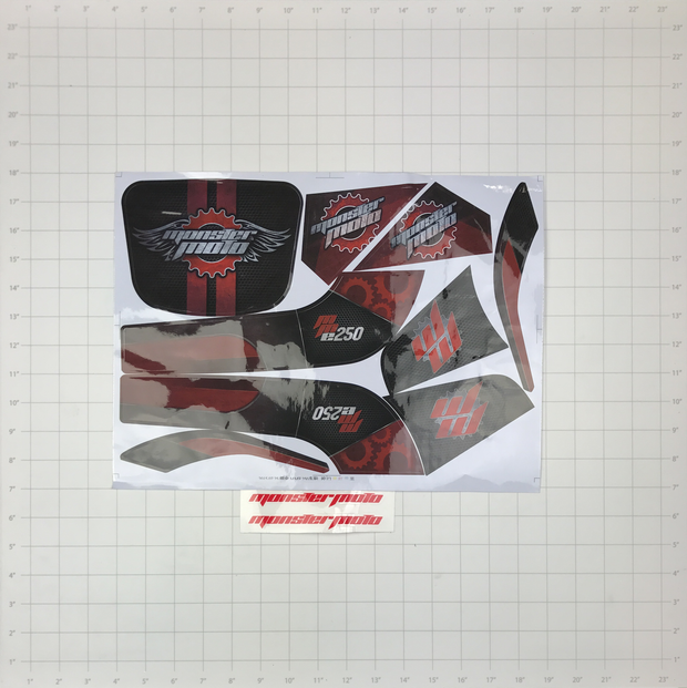 DECAL SET, MM-E250 RED