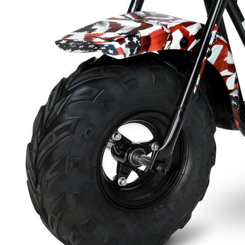 American Flag 105cc Gas Mini Bike with Mag Wheels