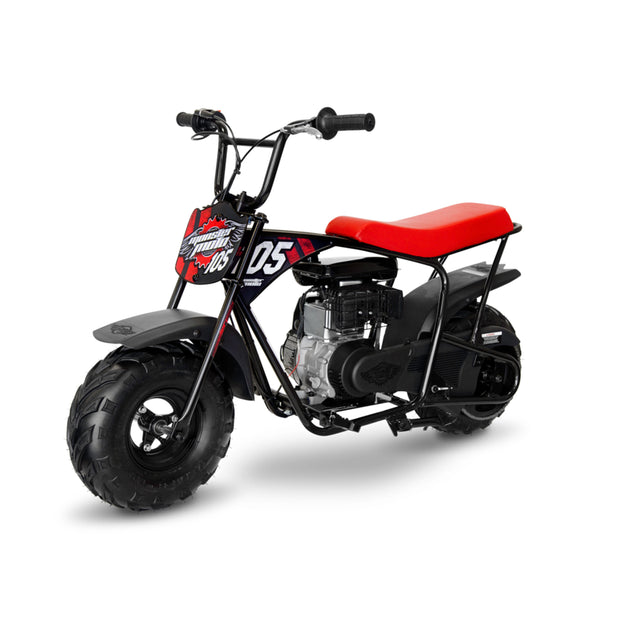 Classic Red & Black 105cc Gas Mini Bike with Mag Wheels