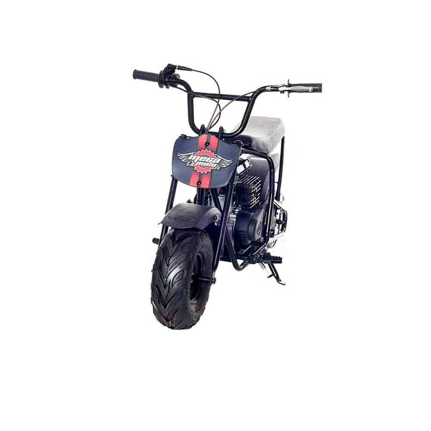 Classic Black & Red 80cc Gas Mini Bike with Front Suspension