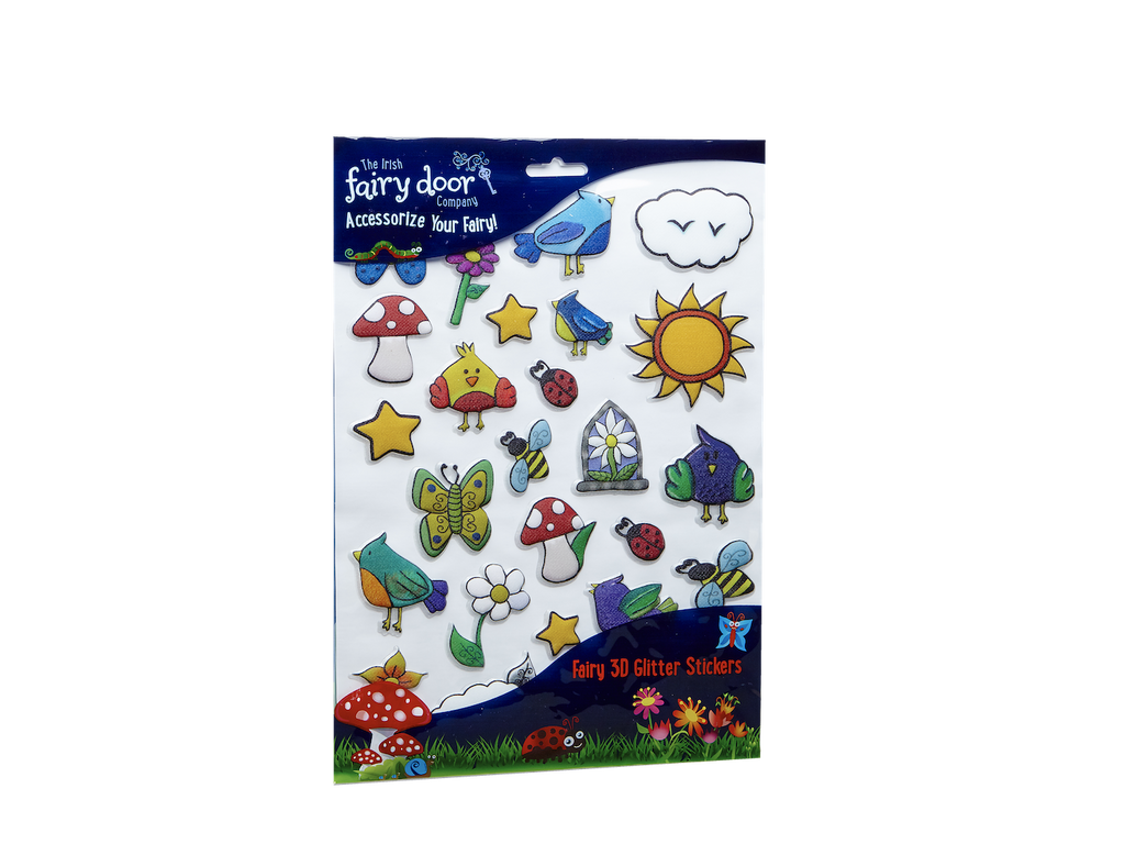 Irish Fairy Door Glitter Stickers