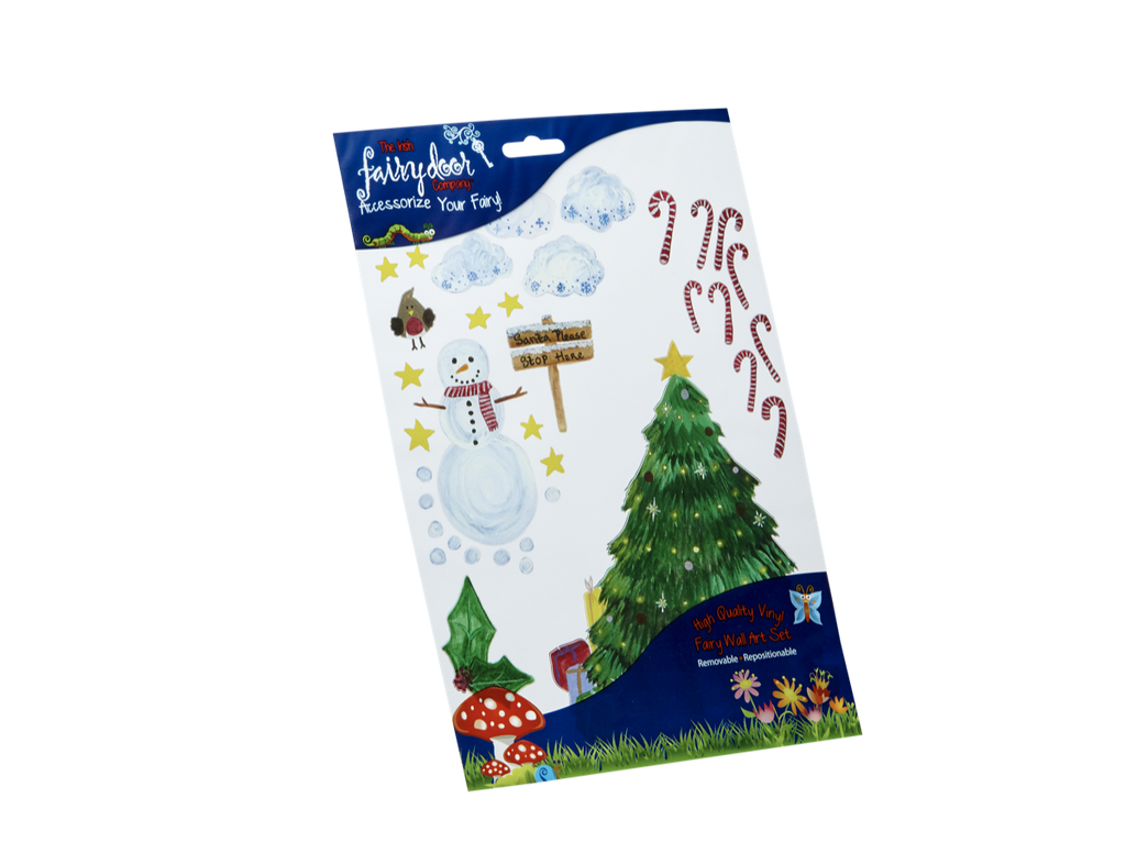 Irish Fairy Christmas Tree Wall Art Pack – The Irish Fairy Door Company